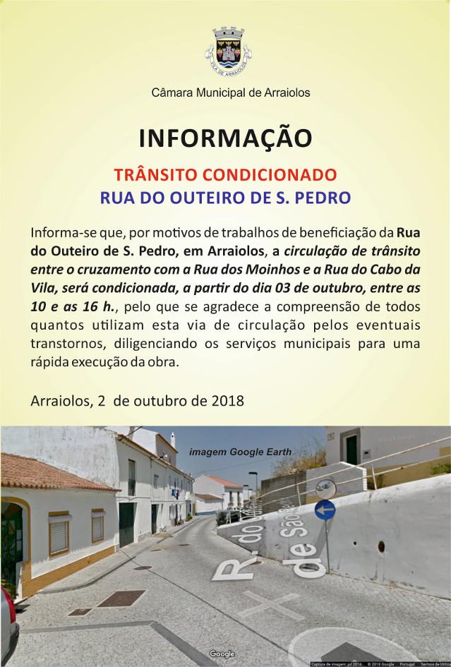 Transito Condicionado Rua Outeiro de SPedro.jpg