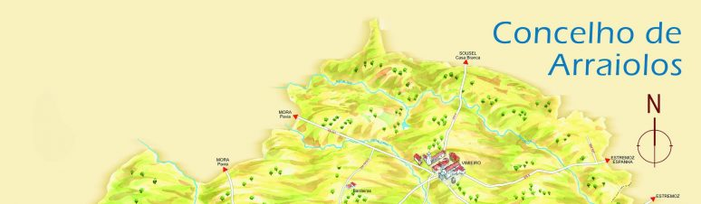 Mapa do Concelho de Arraiolos