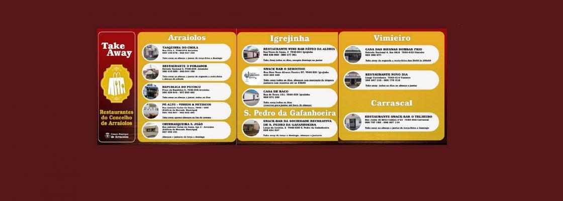 """Restaurantes em """"take away"""" no concelho de Arraiolos"""