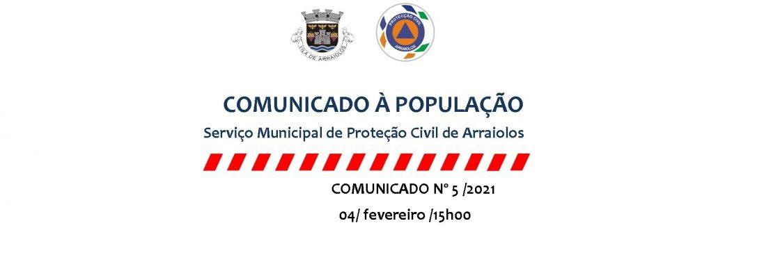Serviço Municipal de Proteção Civil de Arraiolos – Comunicado