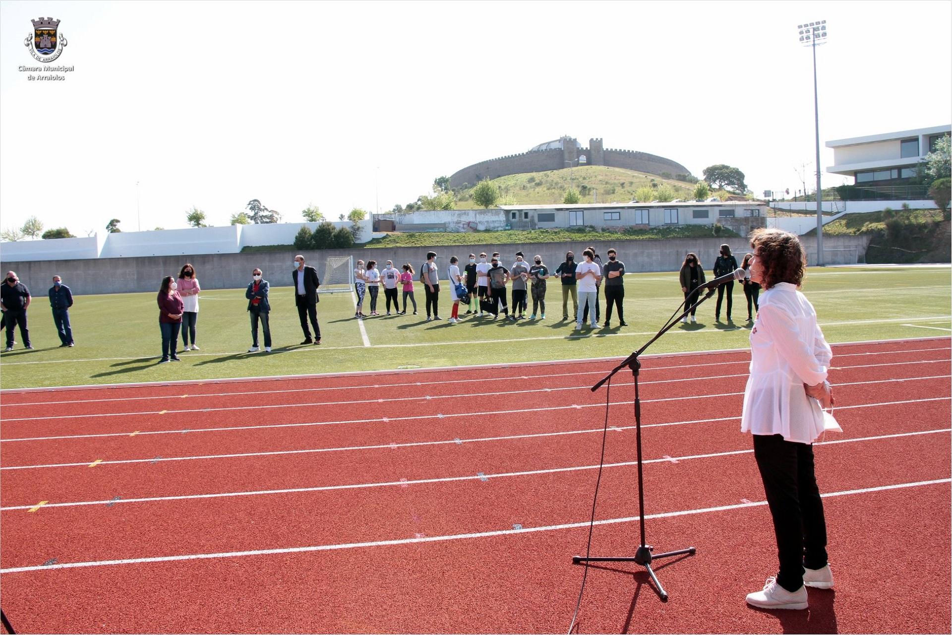 Pista de atletismo - Estádio Municipal Cunha Rivara