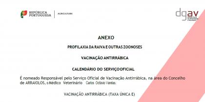 Calendário de Vacinação Antirrábica